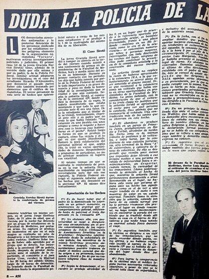 Así 5 julio 1962: la Policía no tomó en serio la denuncia y sembró dudas sobre el testimonio de la joven víctima que mostró las heridas causadas por la navaja