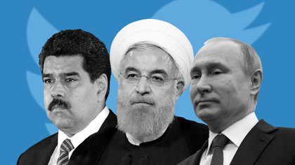 Nicolás Maduro, Hasan Rohani y Vladimir Putin