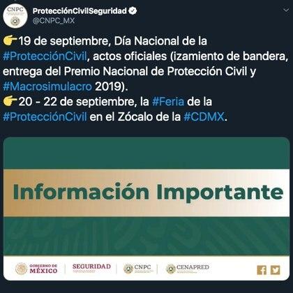 El próximo 19 de septiembre se conmemoran los sismos de 1985 y 2017 en la capital (Foto: Especial)