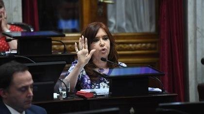 Cristina Kirchner en el Senado (GABRIEL CANO / COMUNICACIÓN SENADO)