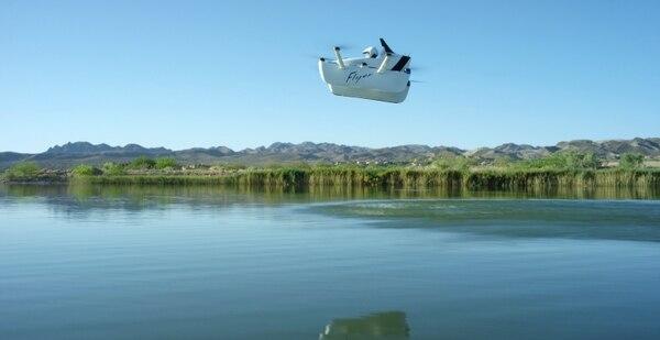 """ElKitty Hawk """"Flyer"""" durante su vuelo de prueba (AFP/ Kitty Hawk Corporation)"""