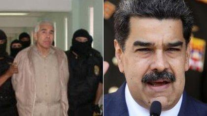 Rafael Caro Quintero (izquierda) y Nicolás Maduro (derecha) (Foto: Especial)