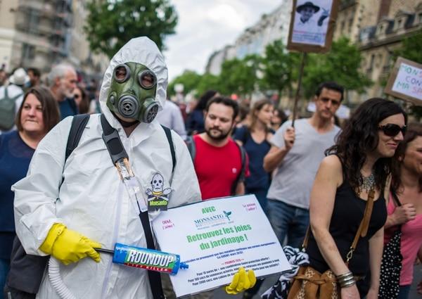 Protesta contra Monsanto, en Francia (AP)