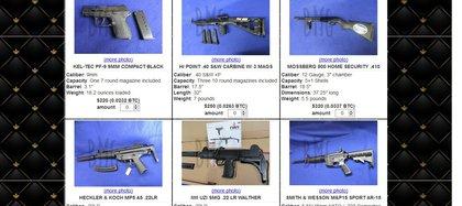 Imagen de una página de venta de armas, la cual señala que vende productos nuevos y con total discreción (Foto: Captura de pantalla)