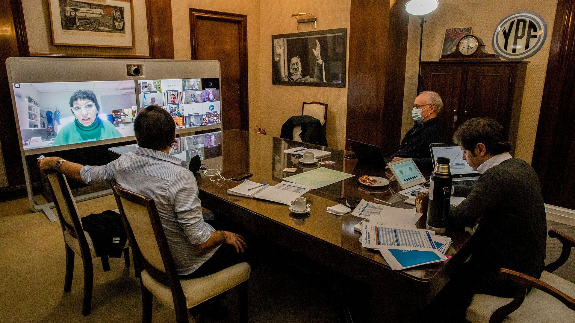 Axel Kicillof se reunio con los intendentes del Conurbano