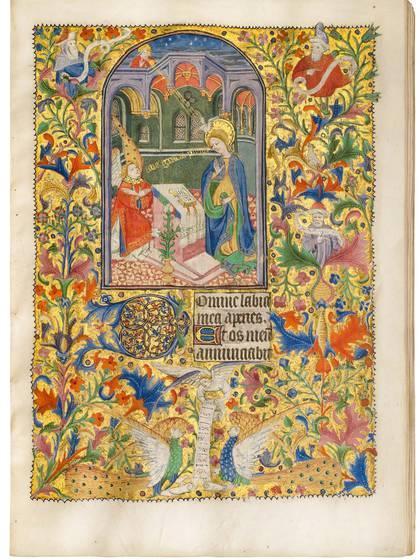Manuscrito iluminado sobre vitela 22.1 x 15.5 cm (8.7 x 6.1 in.) Rouen - circa 1430