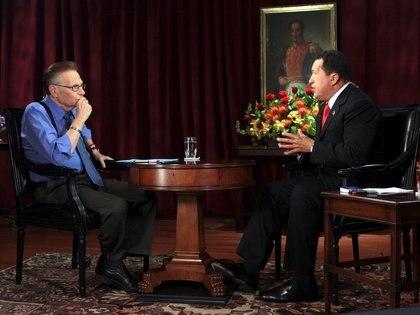Entrevistando a Hugo Chávez en Caracas (Reuters)