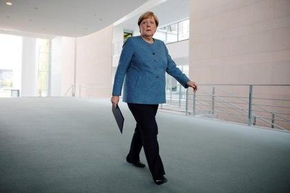 La canciller alemana Angela Merkel en Berlín el 2 de septiembre de 2020 (Markus Schreiber/Pool via REUTERS)