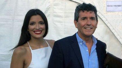 Miguel Ángel Cherutti y su hija Bianca