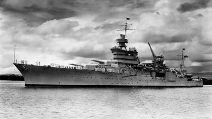 El USS Indianapolis  fue hundido por torpedos japoneses el 30 de julio de 1945 (Courtesy U.S. Naval History and Heritage Command/REUTERS)