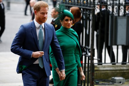 Harry y Meghan asistieron pro última vez a la Abadía de Westminster en Londres, el 9 de marzo de 2020. (Reuters)