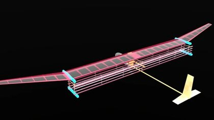 Un equipo de MIT creó este prototipo de avión eléctrico y silencioso (MIT/Steven Barrett)
