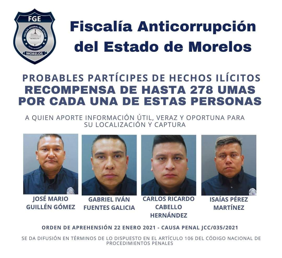 Policías implicados en secuestro de empresarios en Morelos