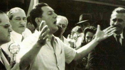 Juan Domingo Perón en el Ministerio de Trabajo