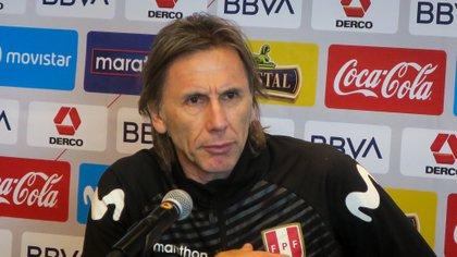 El entrenador de selección peruana de fútbol, el argentino Ricardo Gareca. EFE/ Santiago Carbone/Archivo