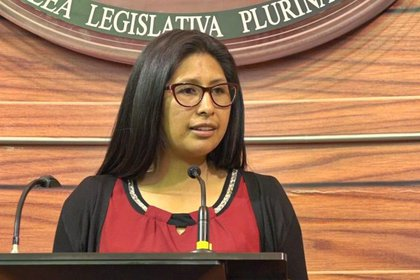 Eva Copa, presidente del Senado de Bolivia