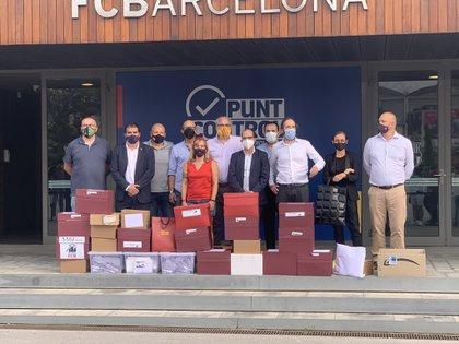 17/09/2020 Los promotores de la moción de censura al presidente del FC Barcelona, Josep Maria Bartomeu, y su Junta Directiva, entregan las firmas necesarias para emprender el voto de censura DEPORTES NOU IMPULS FCB