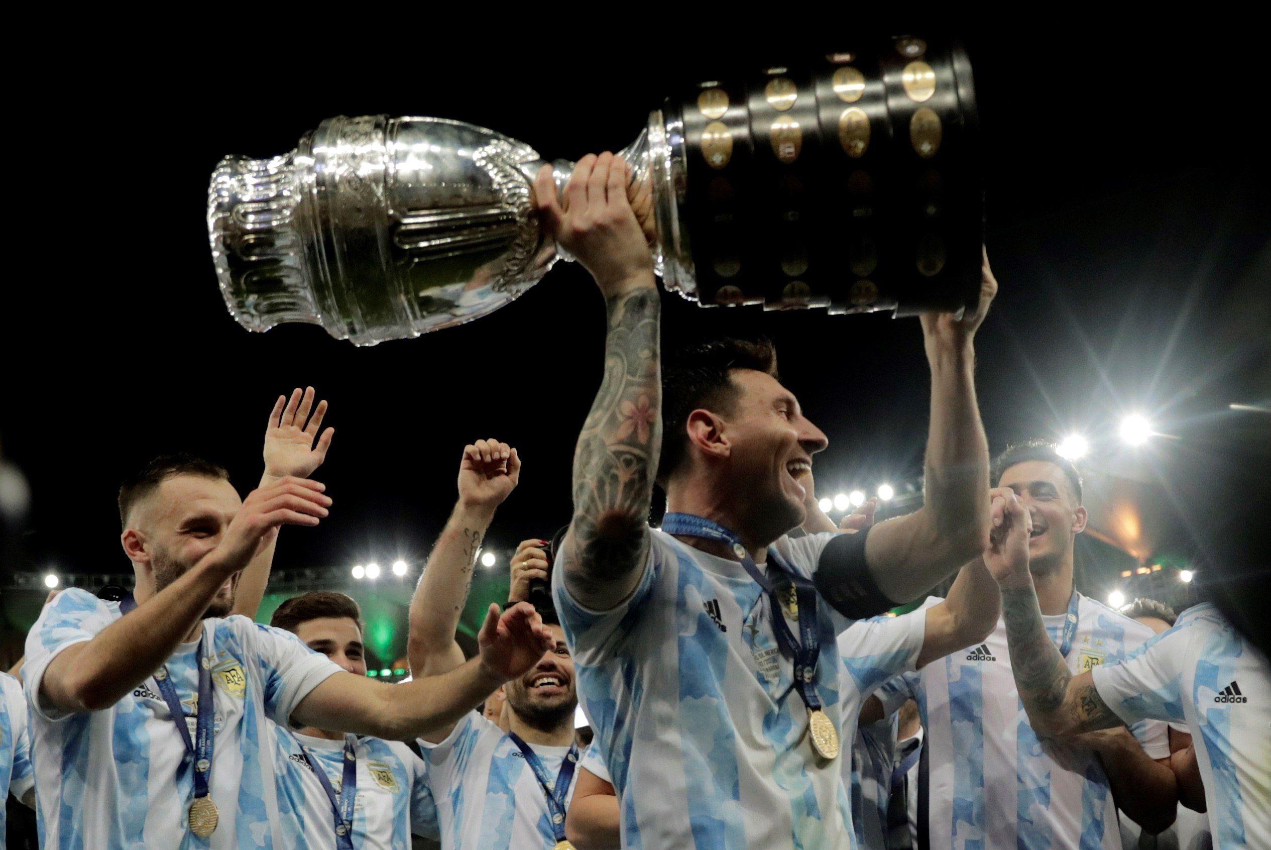 Messi gan´´o su primer título con la selección argentina (EFE)