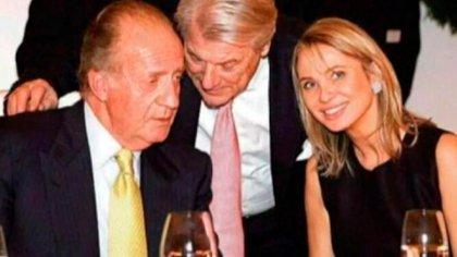 El rey emérito Juan Carlos de Borbón y la empresaria Corinna Larsen (Archivo)