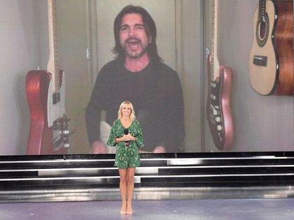 Juanes participó del programa solidario desde Miami (Foto: Telefe)