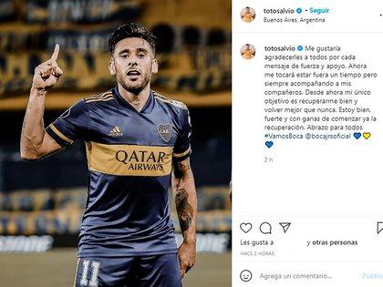 Mensagem de Toto Salvio depois que ele foi ferido em Bucca