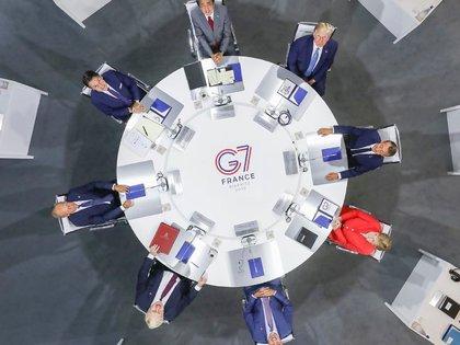 Mesa redonda con los líderes del G7 en 2019
