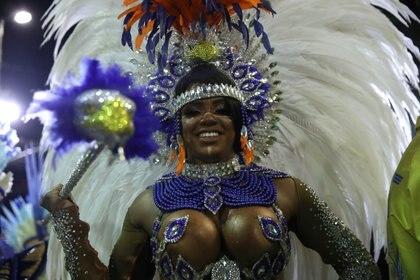 La reina del tambor Bianca Monteiro of Portela samba school  REUTERS/Ricardo Moraes