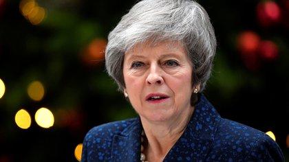 Theresa May trata de lidiar con el Brexit (REUTERS/Toby Melville)