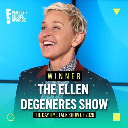 Según un reporte de la empresa Nielsen, la audiencia de The Ellen Show bajó 38 por ciento comparado con el año pasado debido al escándalo de toxicidad laboral en el que estuvo envuelto durante el verano (Foto: Instagram @peopleschoice)