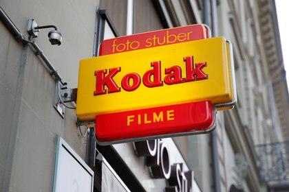 Un letrero de la empresa Kodak