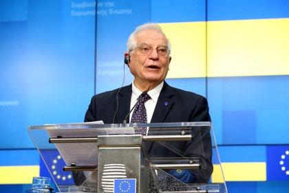 En la imagen un registro del alto representante la Política Exterior de la Unión Europea (UE), Josep Borrell. EFE/Francois Walschaerts/Archivo