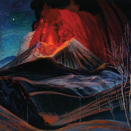 Uno de los cuadros que pintó Dr. Atl del coloso (Foto: Especial)