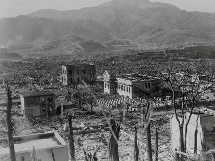 La bomba sobre Nagasaki, el 9 de agosto de 1945 (Department of Energy/Lawrence Berkeley National Laboratory/REUTERS)