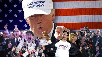 Donald Trump ganó con el apoyo de los votantes blancos (AP)