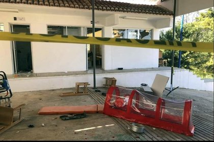 Los habitantes de San Andrés Larráinzar, también vandalizaron el mobiliario del edil (Foto: @LagarrapataS22)