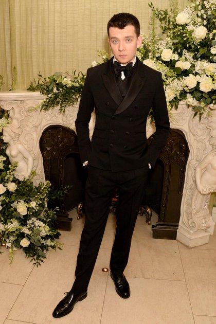 Asa Butterfield en los premios BAFTA, en febrero de 2020 (Crédito: Shutterstock)