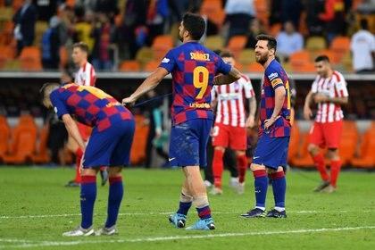 La desazón de Barcelona tras la derrota ante el Aleti por la Supercopa de España (REUTERS/Waleed Ali)