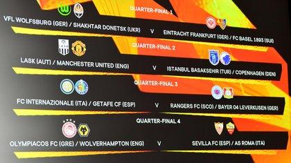 El camino de la Europa League (AFP)