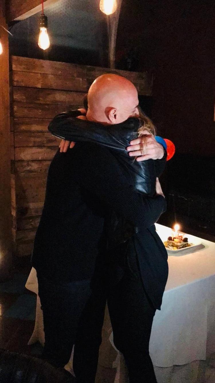 """La tierna foto de Guillermo """"el Pelado"""" López tras anunciar su casamiento con Nella Ghorghor (Foto: Teleshow)"""
