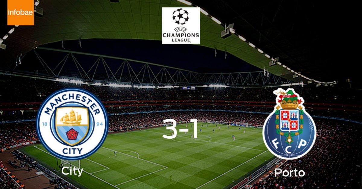 Manchester City vence 3-1 al a Porto  - Infobae