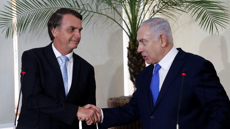 Bolsonaro y Netanyahu (Reuters)