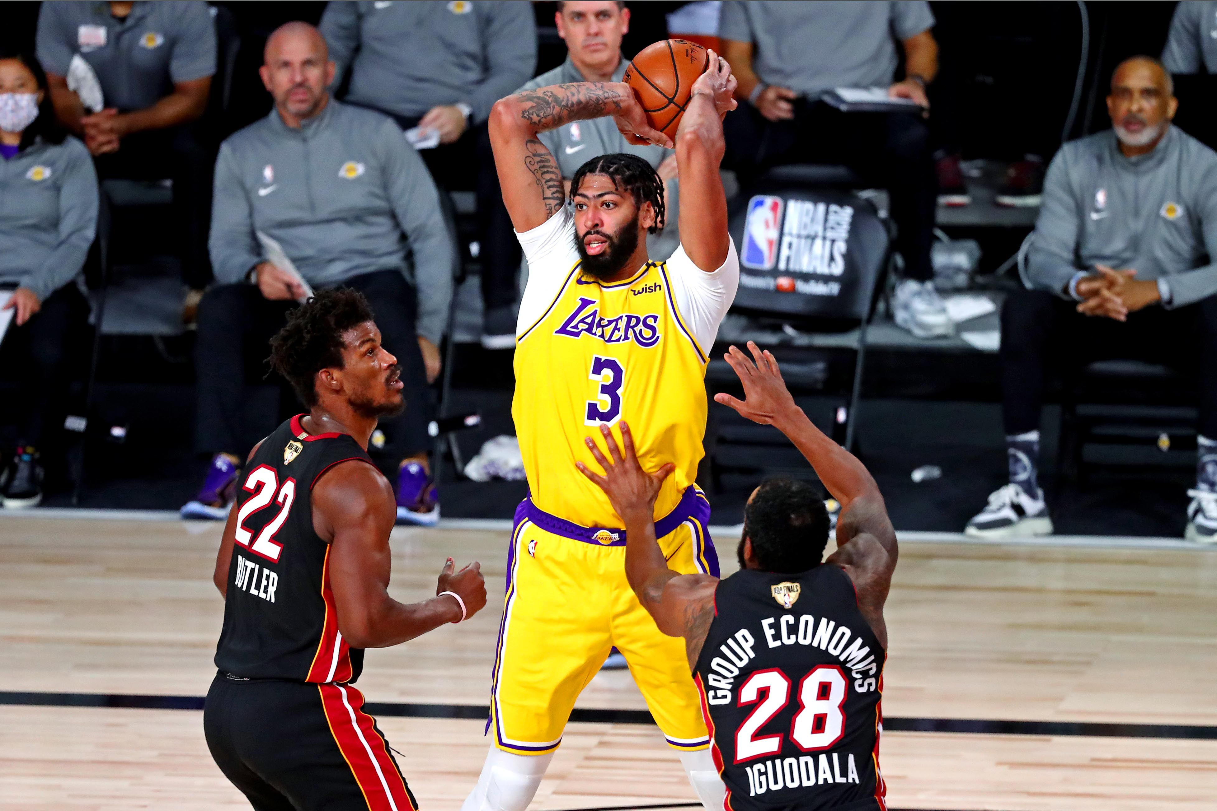 Anthony Davis, una de las piezas claves de los Lakers (Credit: Kim Klement-USA TODAY Sports)