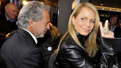 Bolocco junto a su actual pareja y futuro marido, José Patricio Daire (Teleshow)