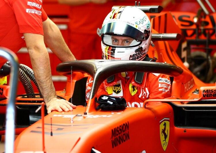 Ferrari, Sebastian Vettel entrenando (REUTERS)