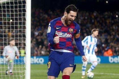 Messi se transformó en el mejor jugador en la historia del FC Barcelona (EFE/Quique García)