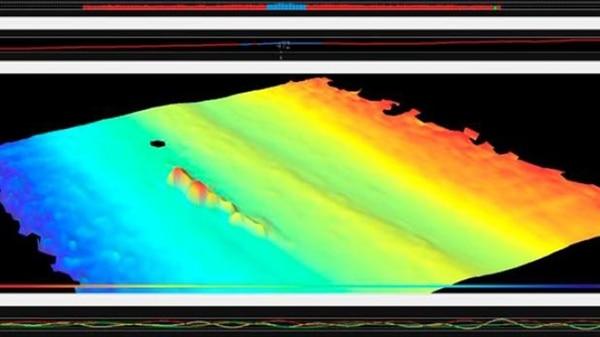 La imagen de sonar detectada por el Víctor Angelescu