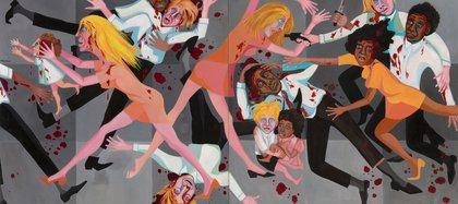 """""""American People Series # 20: Die"""", de Faith Ringgold, se destaca en la colección permanente del Museo de Arte Moderno"""