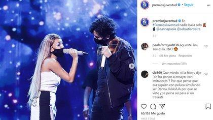 Para la premiación, las interpretaciones fueron grabadas y sólo estarán algunos artistas en vivo para la entrega de premios (Foto: Instagram @PremiosJuventud)