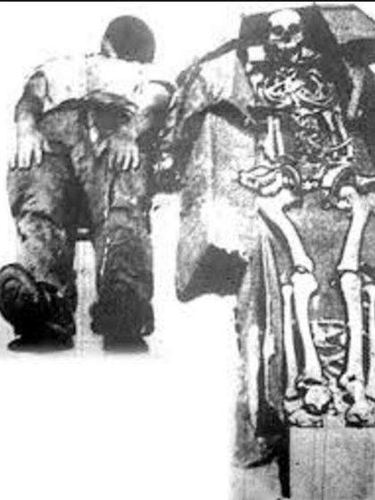 El esqueleto encontrado por Billy Harman