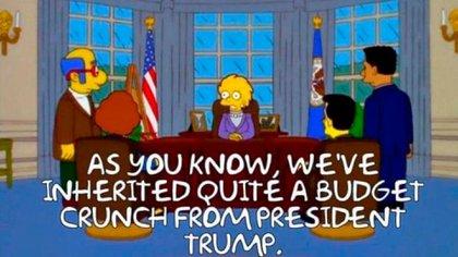 """""""Como saben, hemos heredado una gran crisis presupuestaria del presidente Trump"""", la frase que también anticipó el cambio de mando este miércoles en EEUU"""